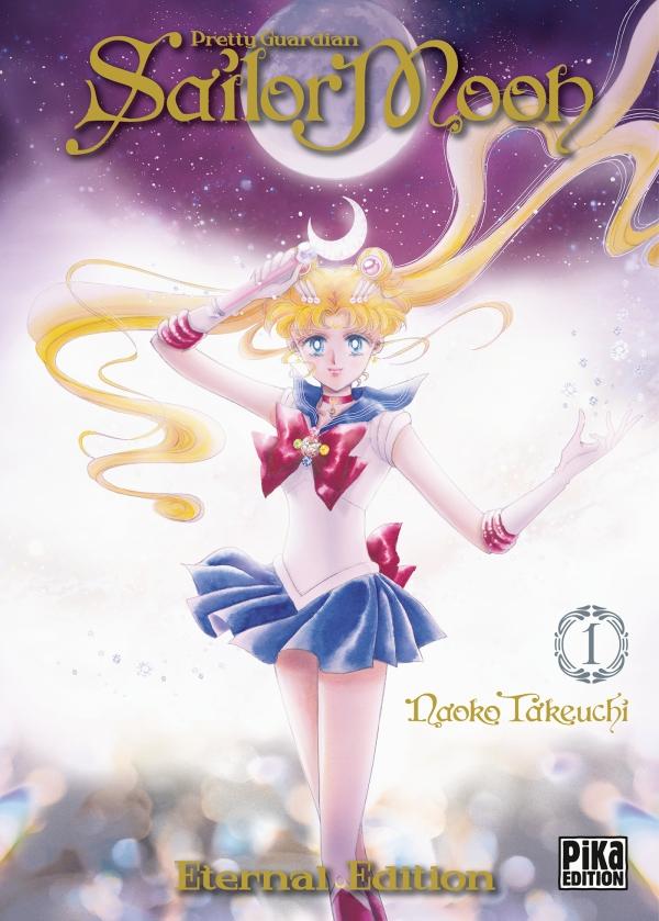 Couverture du tome 1 de Sailor Moon édition Eternal