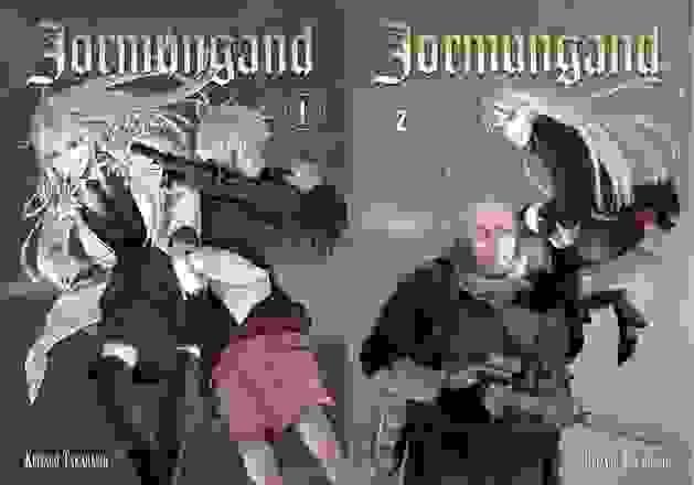 Couvertures des deux premiers tomes de Jormungand
